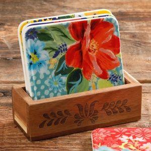 NWT Pioneer Woman Floral Coaster Set